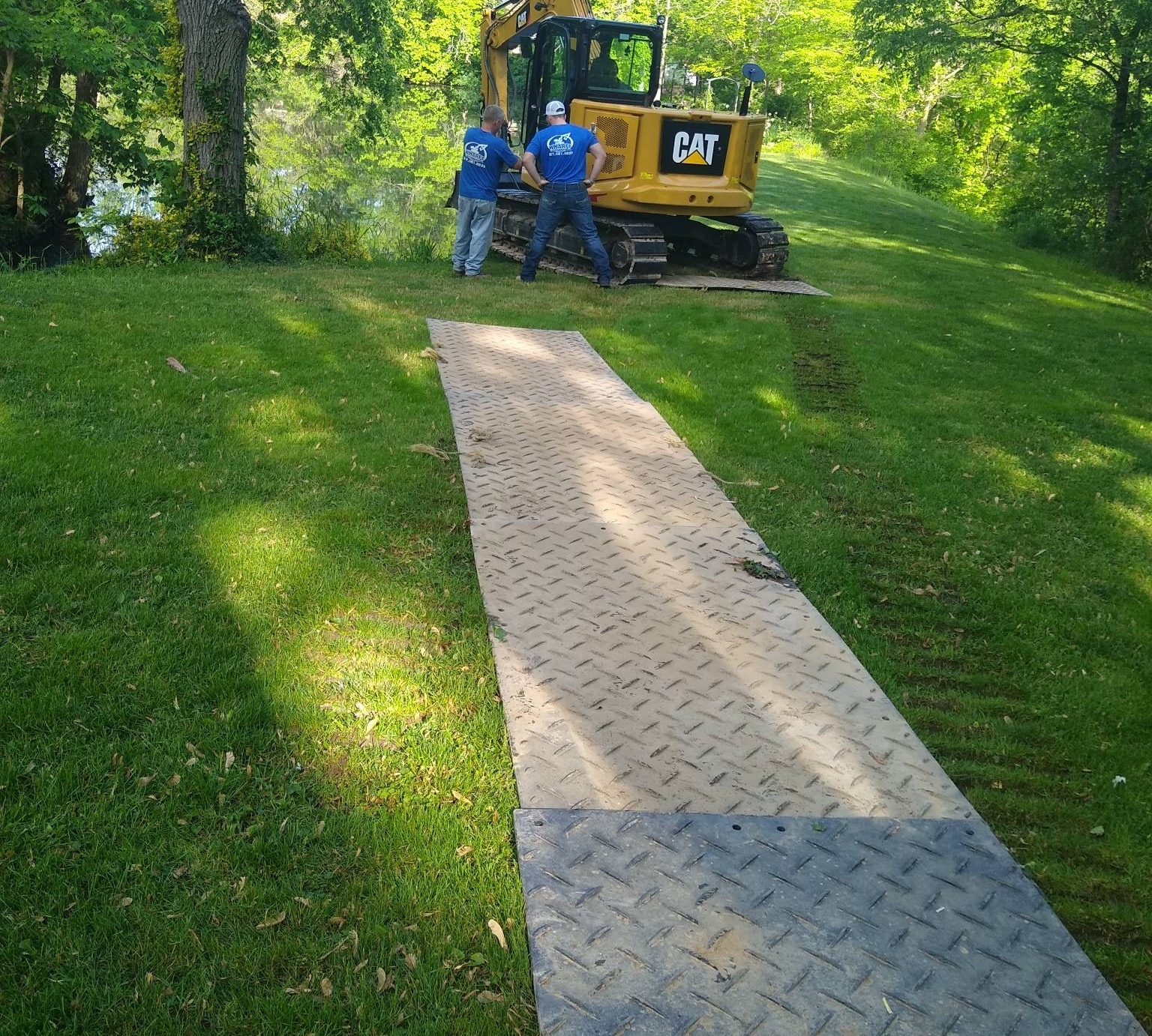 Clean pond and erosion control - Pittsboro