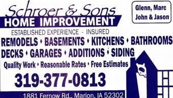Schroer and Sons Home Improvement logo