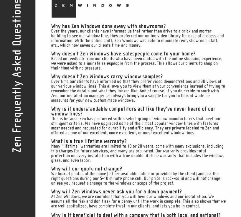 Zen FAQ