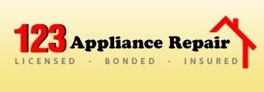 123 APPLIANCE REPAIR logo