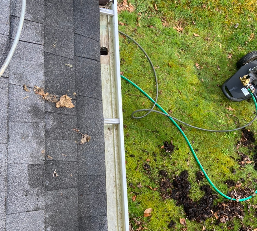 House cleaning / gutter cleaning and guard install