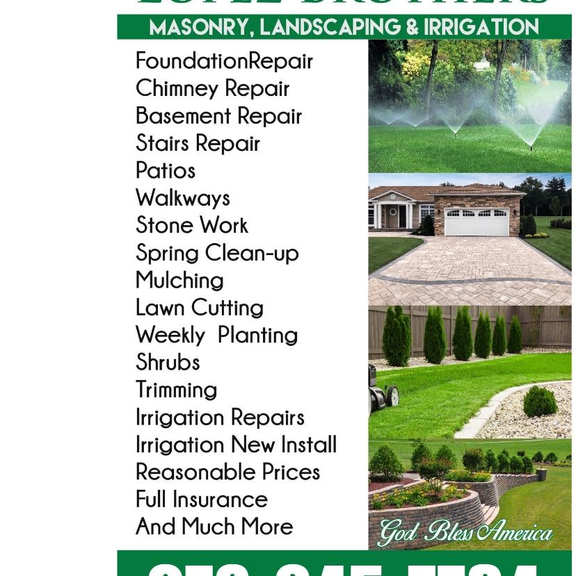 Lopez Brothers Masonry Landscaping Irrigation logo