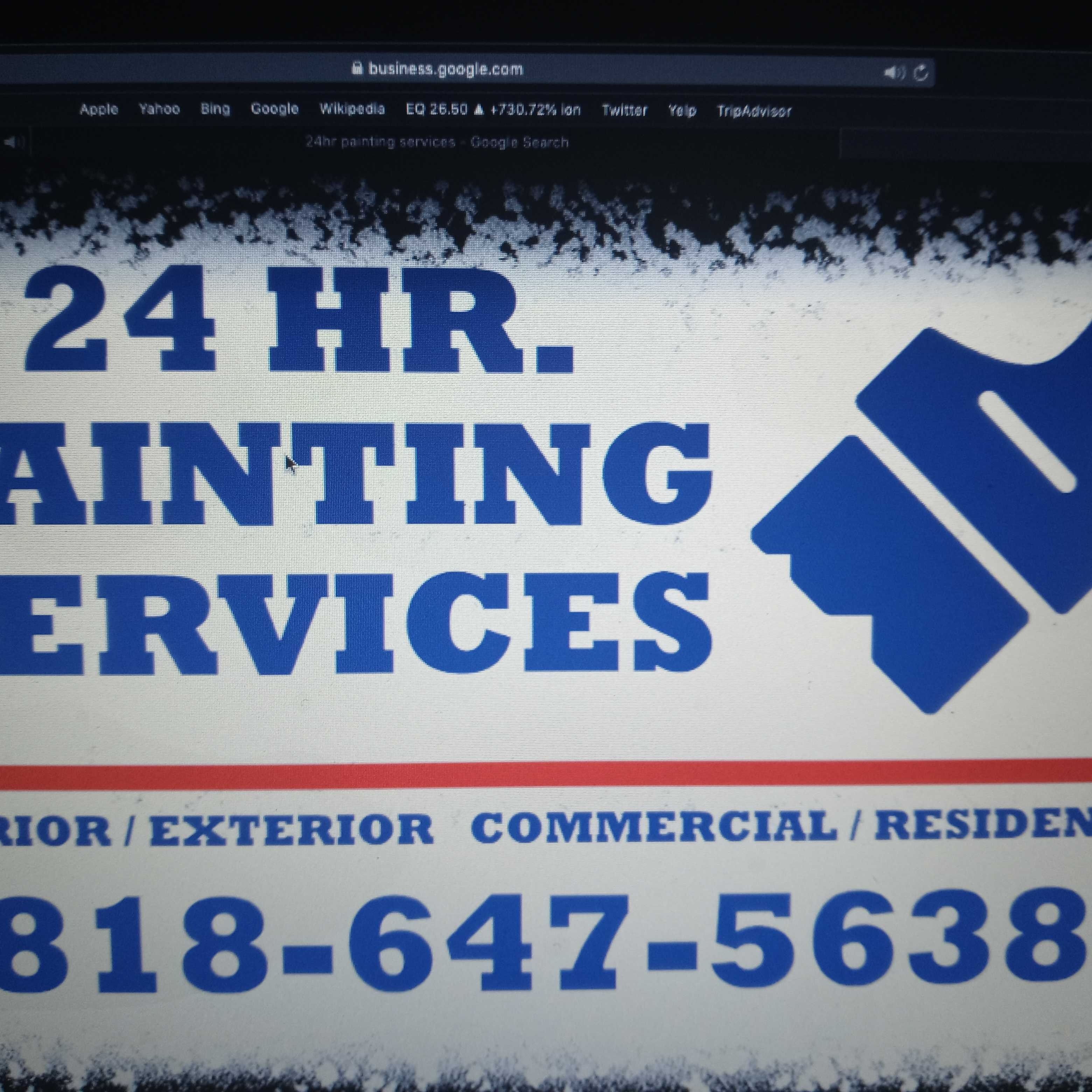 24HR PAINTING SERVICES logo