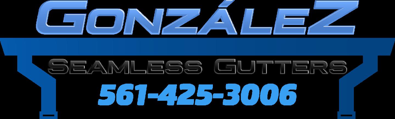 Gonzalez seamless Gutter & Gardening logo