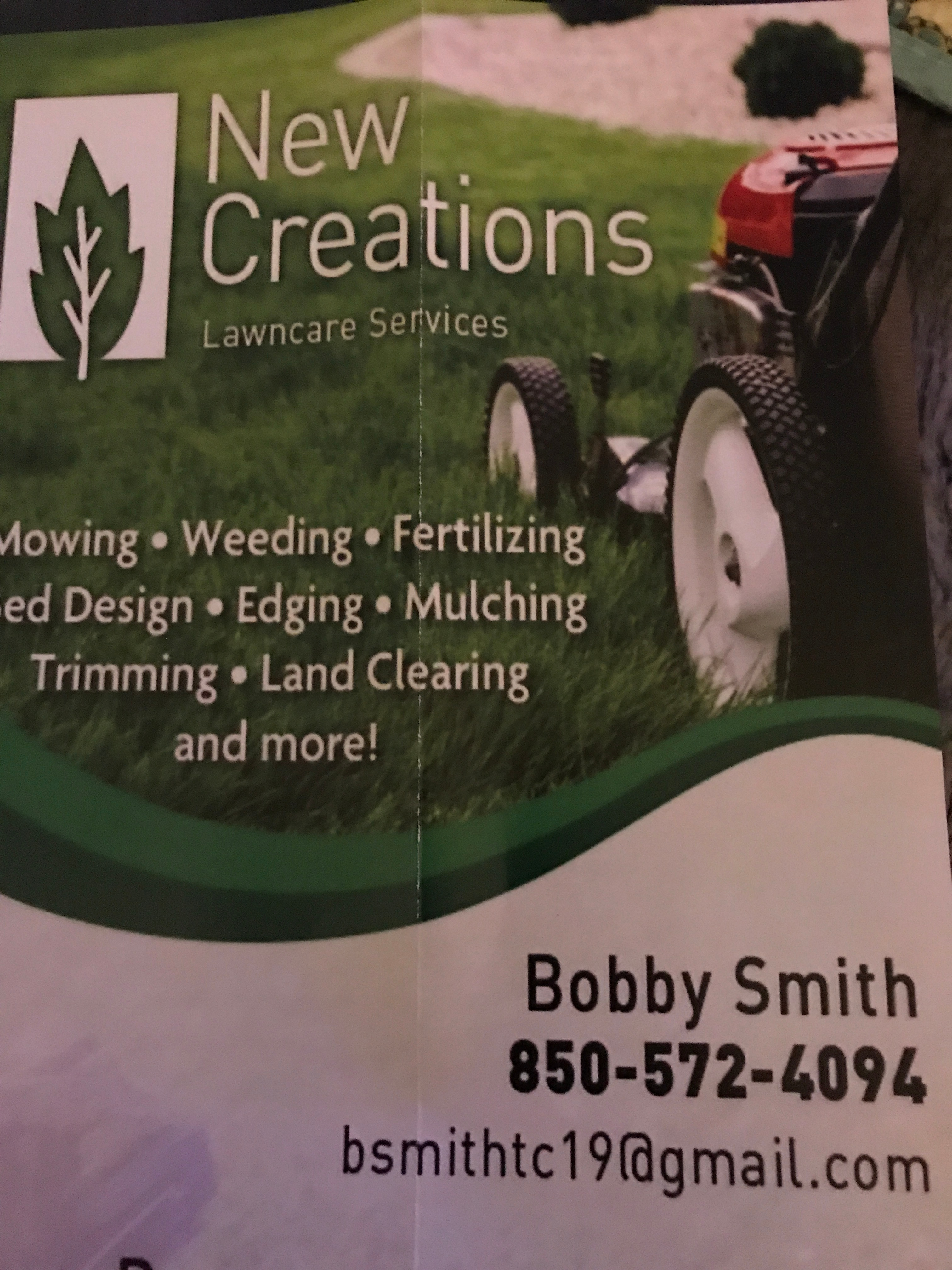 New Creations Lawn Care Services logo
