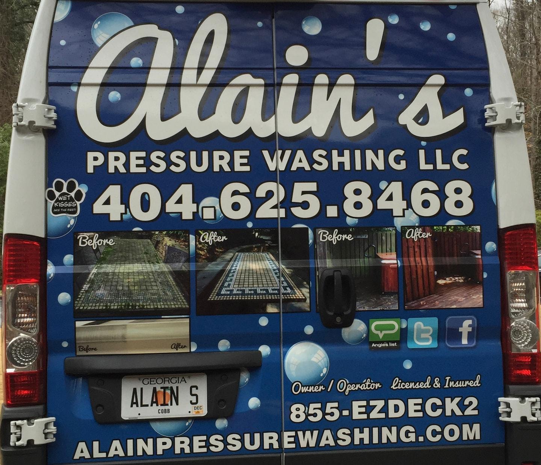 Alain Pressure Washing logo