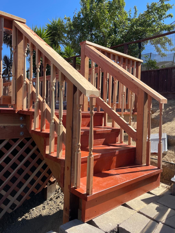 Redwood deck