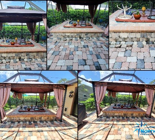 Cleaning and sealing paver pool patio deck