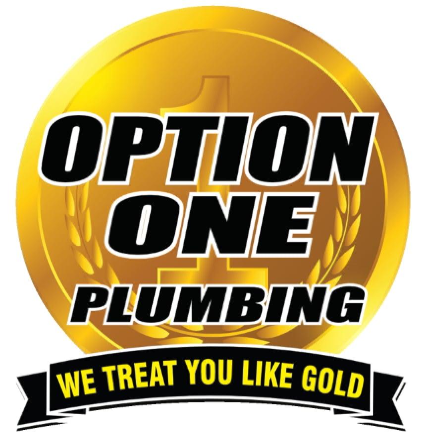 Option One Plumbing logo