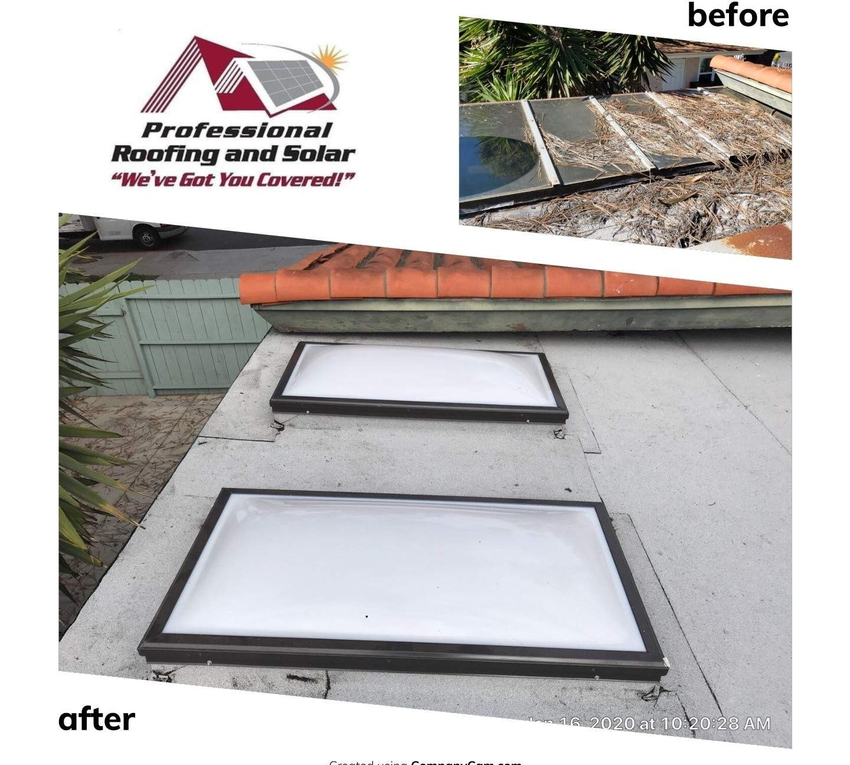 DIY glass roof renovation