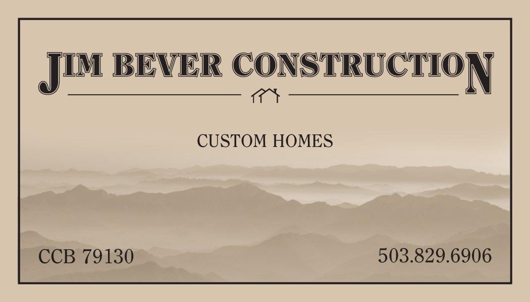 JIM BEVER CONSTRUCTION logo