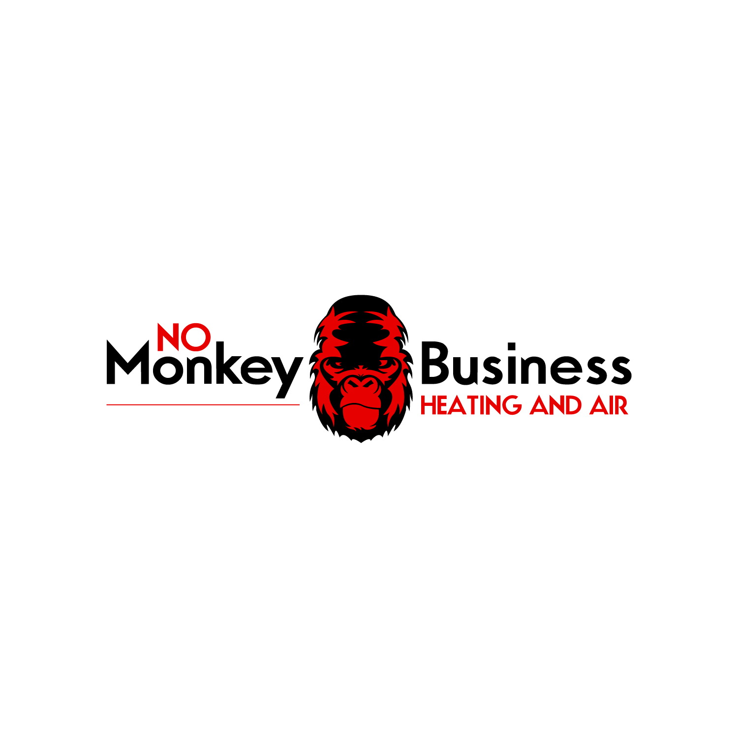 No Monkey Business Heating and Air logo