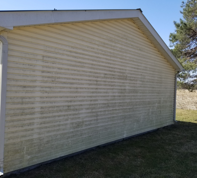 Power washing garage