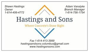 Hastings and Sons Concrete logo