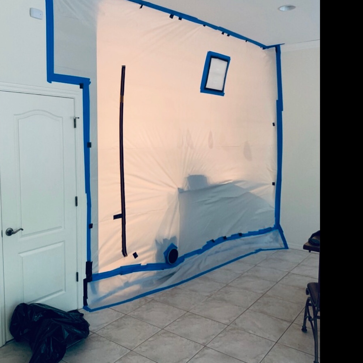 Black Mold Removal in a Kitchen