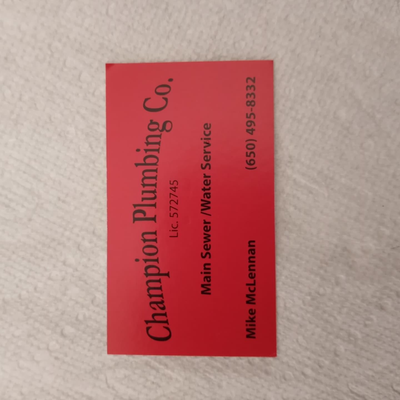 Champion Plumbing Co. logo