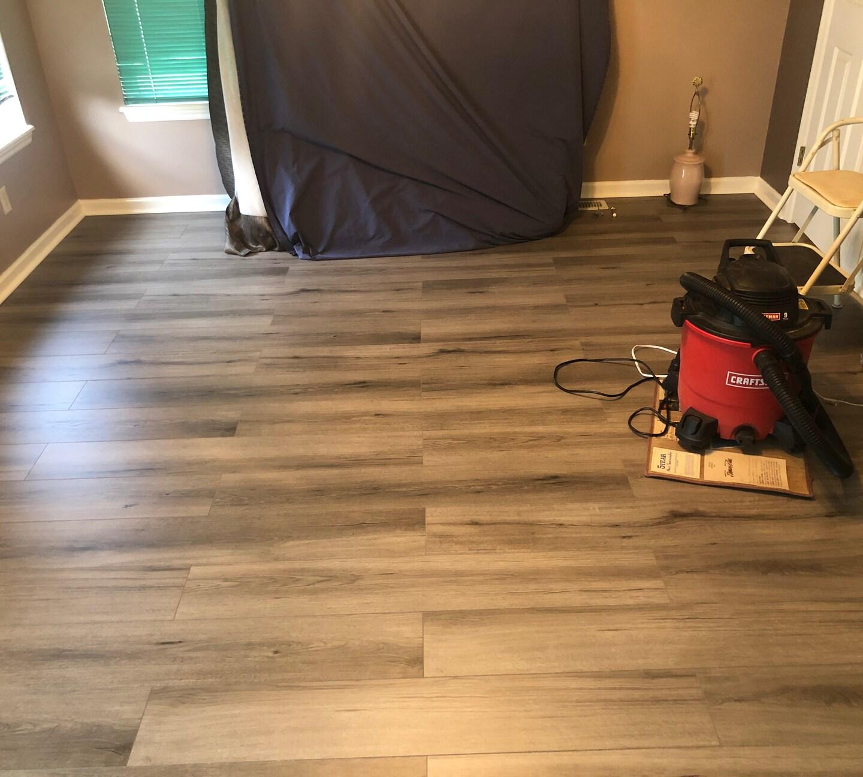 Installed Engineered Hardwood Flooring