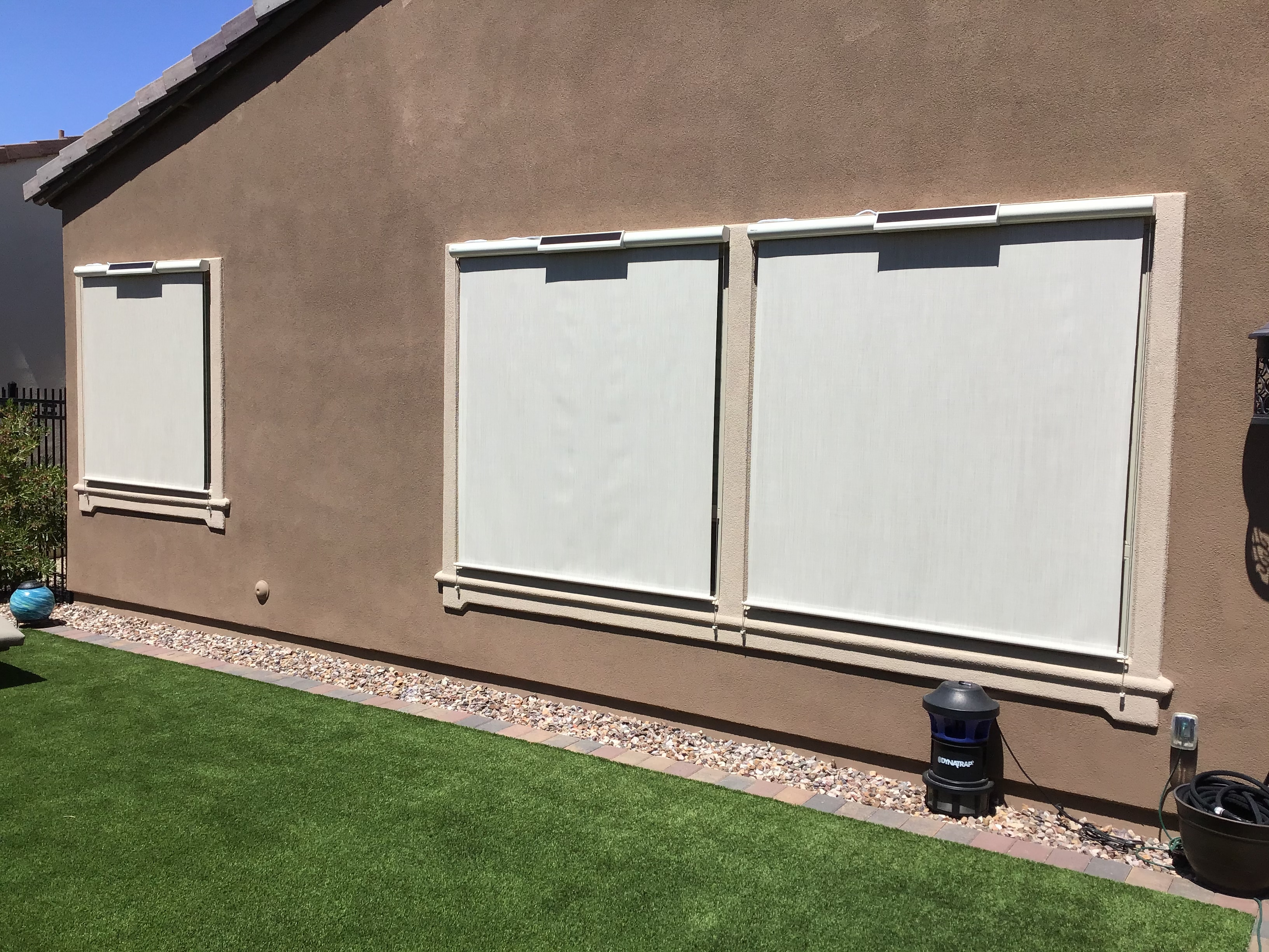 Retractable awning installations