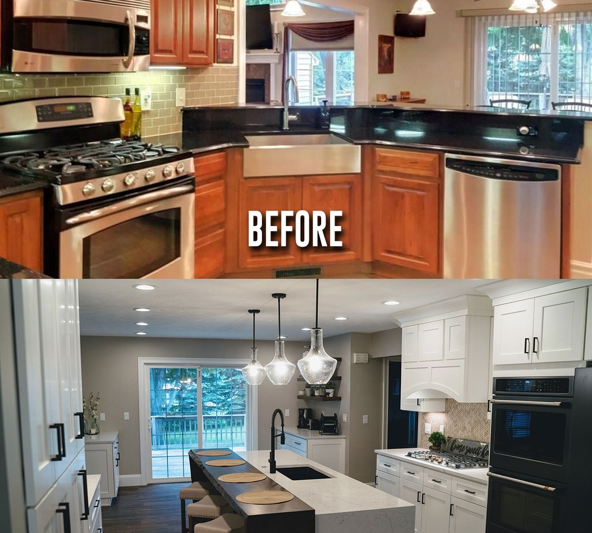 Kitchen & Living Room Remodel in Painesville