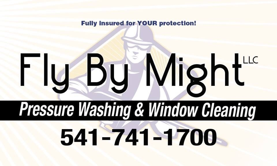 Fly By Might LLC Pressure Washing & Window Cleaning logo