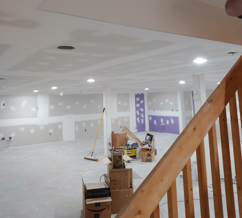 Drywall basement My Airy NC