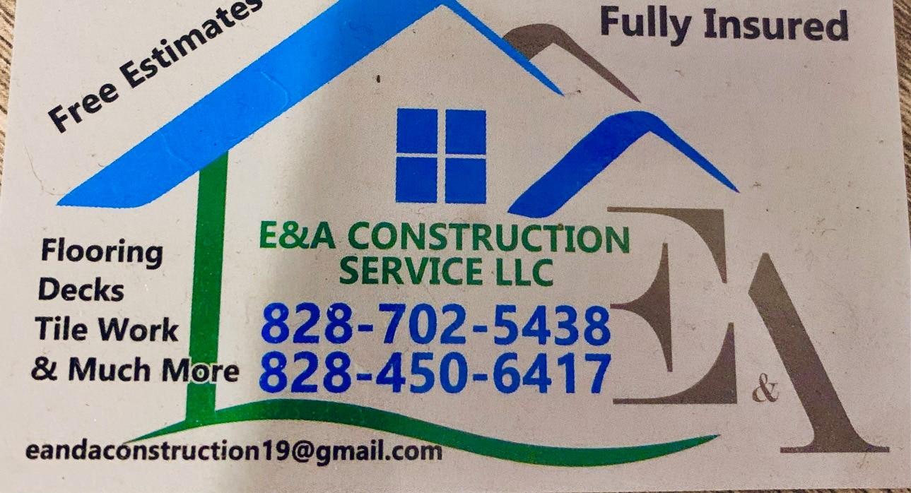 E&A construction service  logo