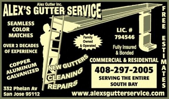 ALEX GUTTER SERVICE logo