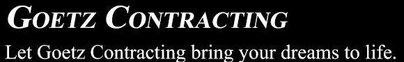Goetz Contracting logo