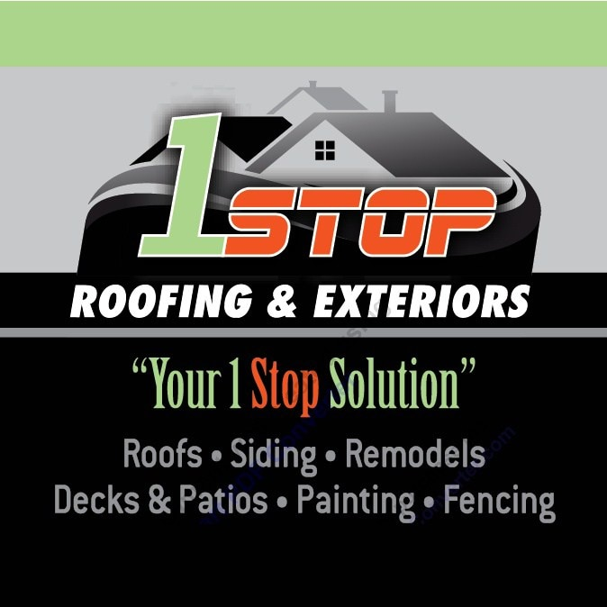 1Stop Roofing & Exteriors logo