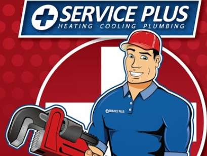 Service Plus Heating Cooling Plumbing logo