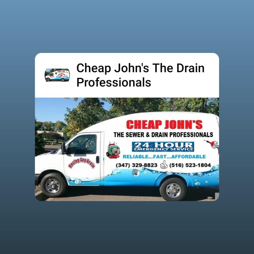 Cheap John's The Drain Professionals logo