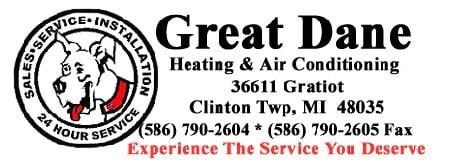 Great Dane Heating & Air Conditioning logo
