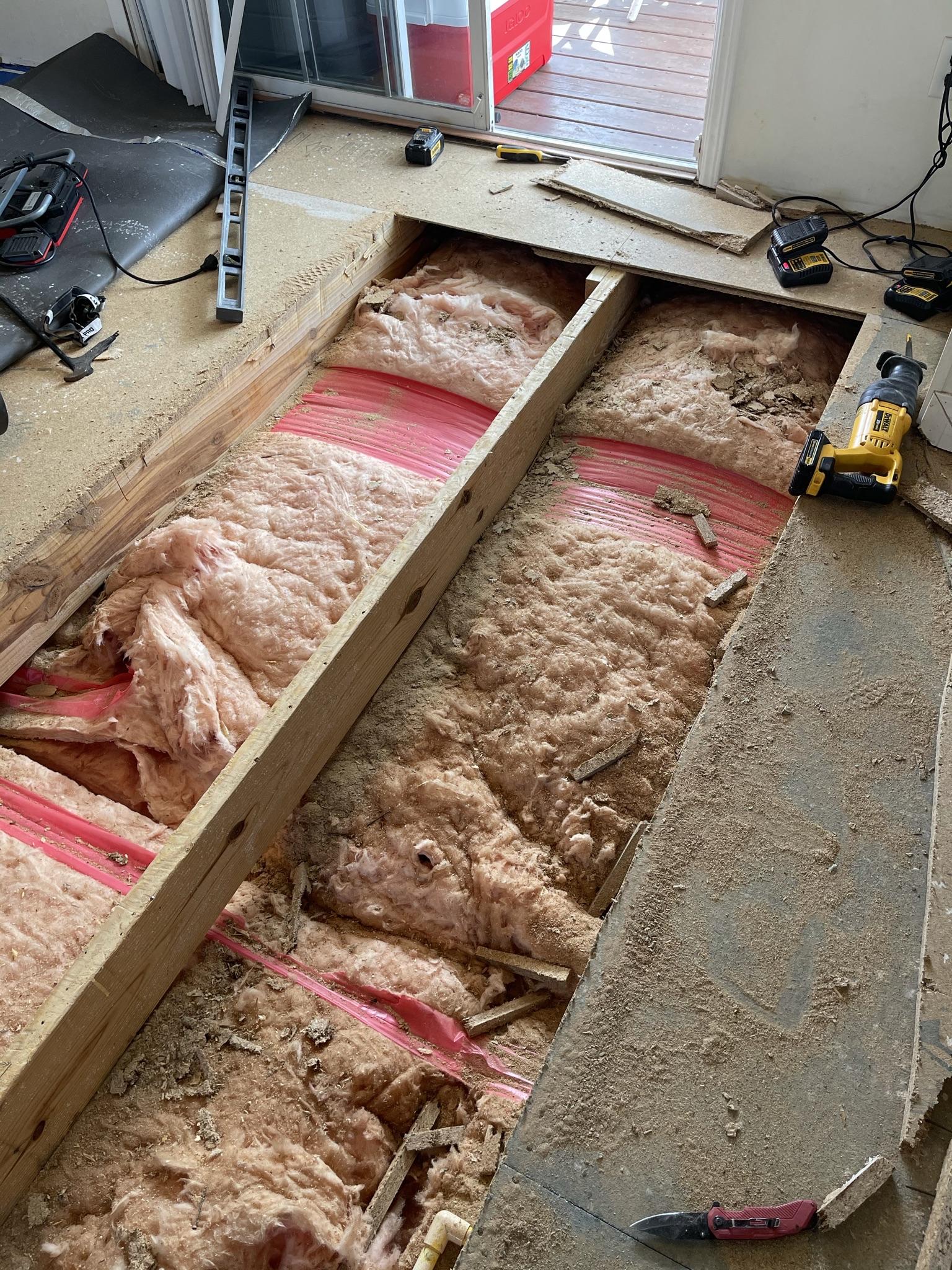 Bathroom Remodel and Sub Floor and Floor repair