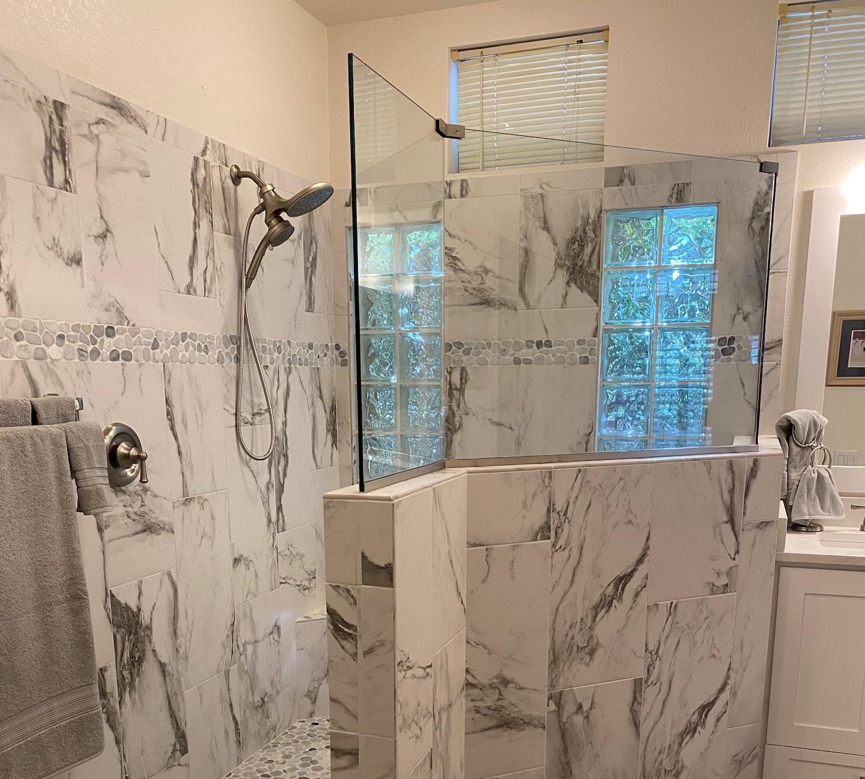 Master Bathroom Shower/Tub to Walk-In Shower Remodel