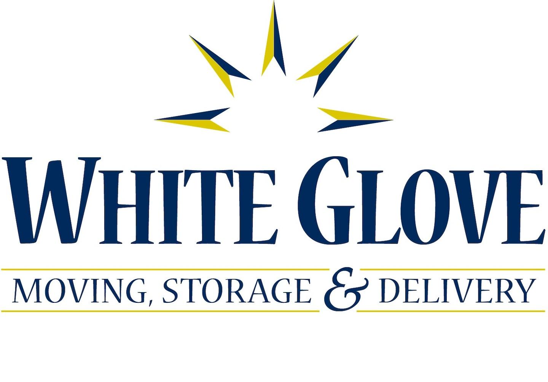 WHITE GLOVE, MOVING, STORAGE & DELIVERY logo