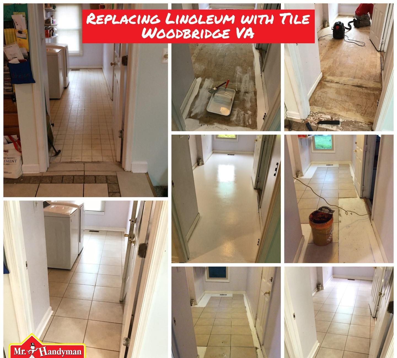 Replacing Linoleum With Tile - Woodbridge, VA