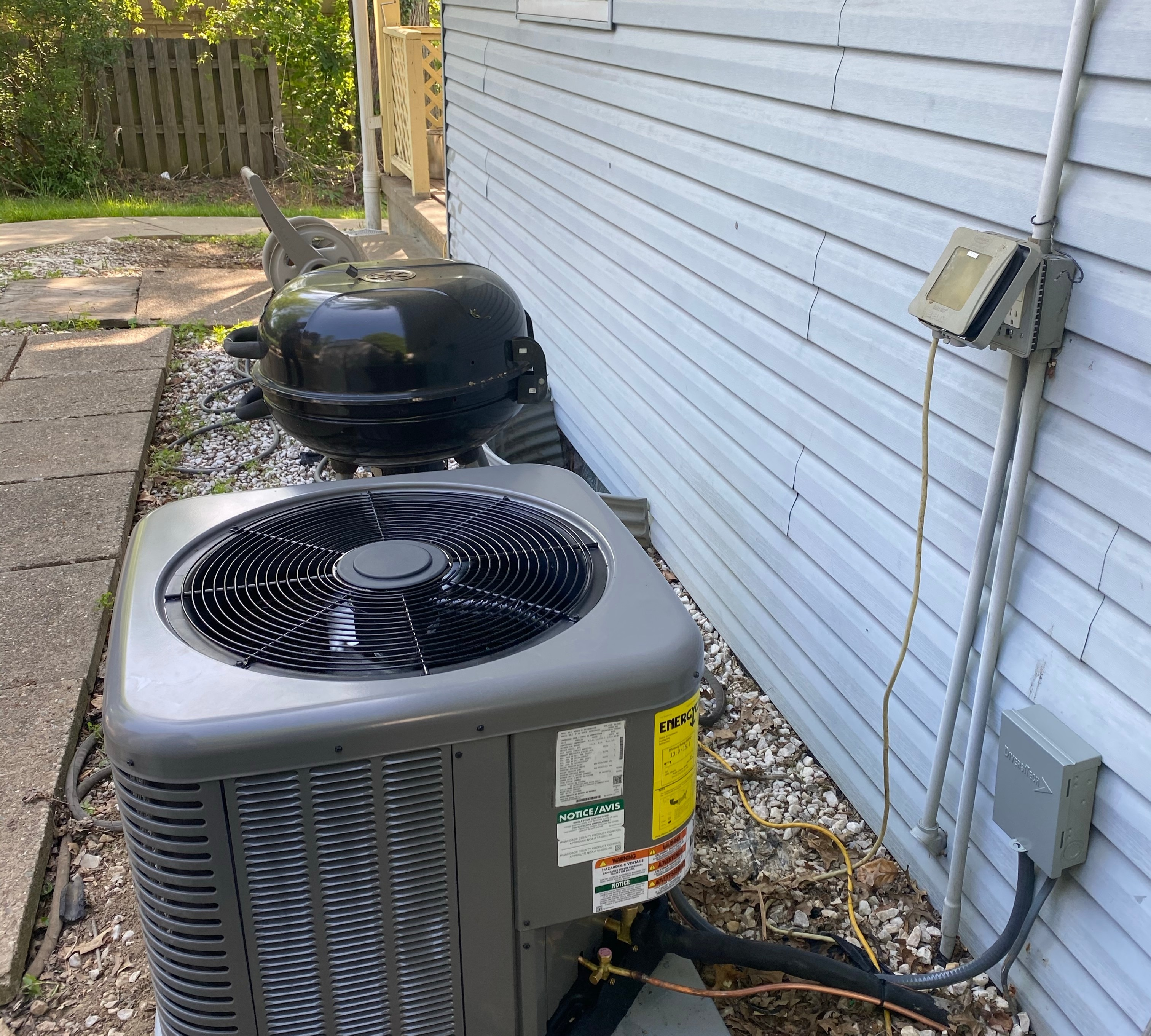 Condensing Unit, Coil & Thermostat Install