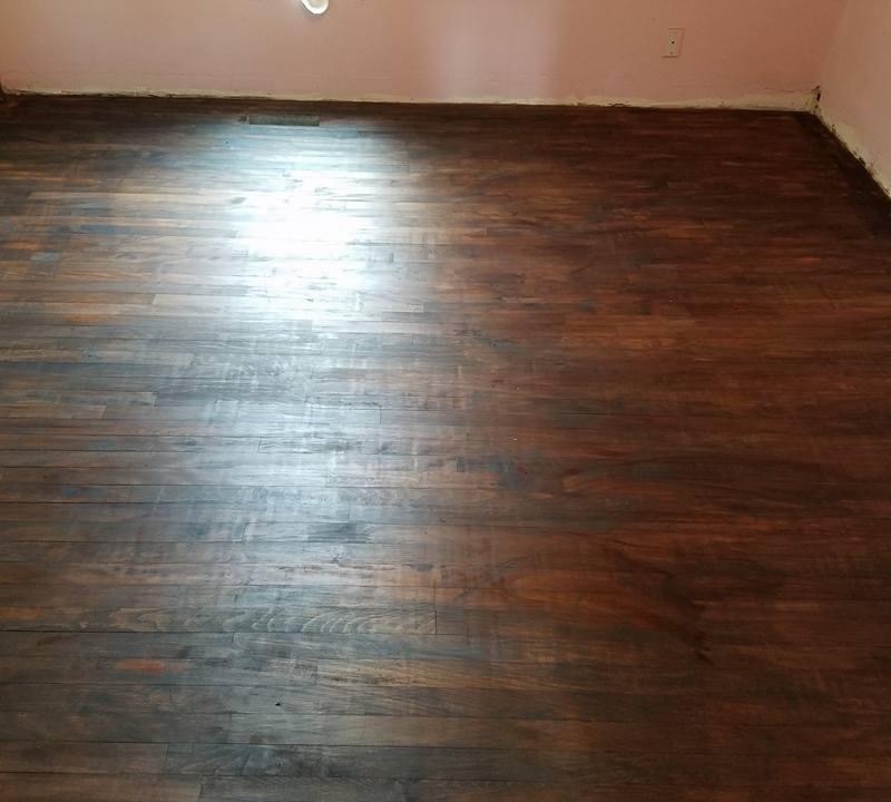 Wood flooring stripping and refinishing