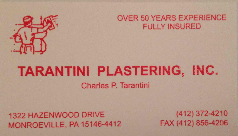 Charles P. Tarantini Plastering logo