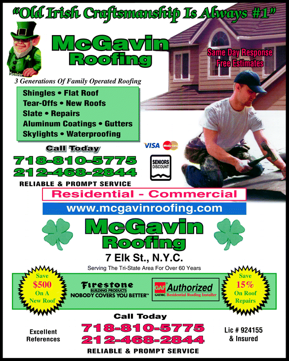 McGavin Roofing logo