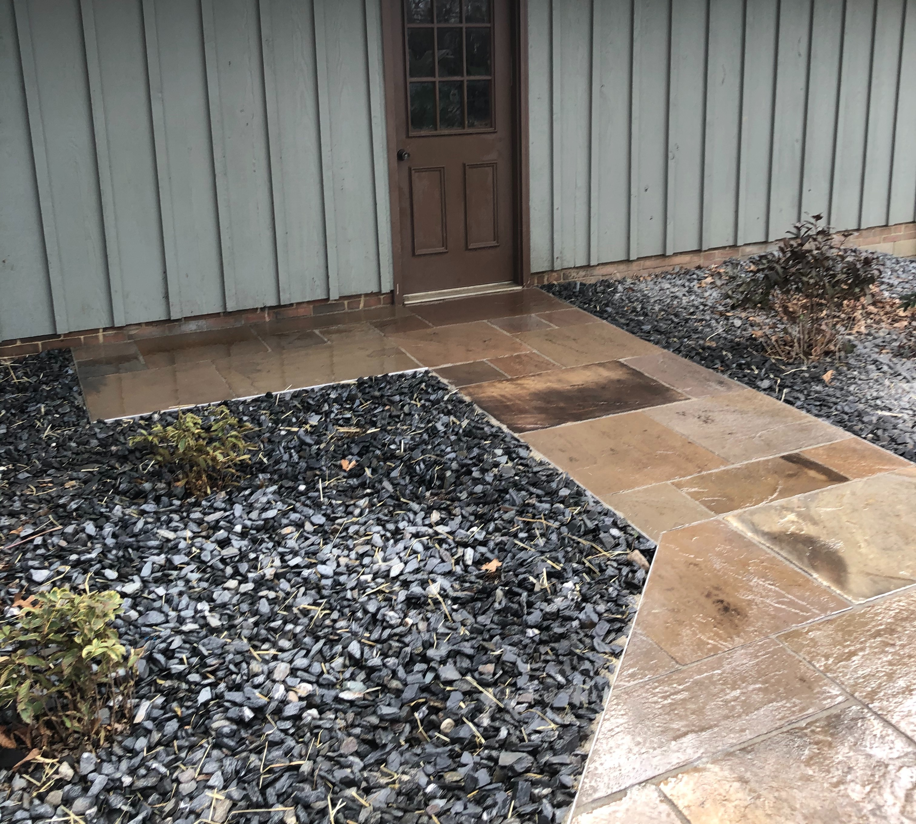 Patio and New Flower Beds and Shrubs
