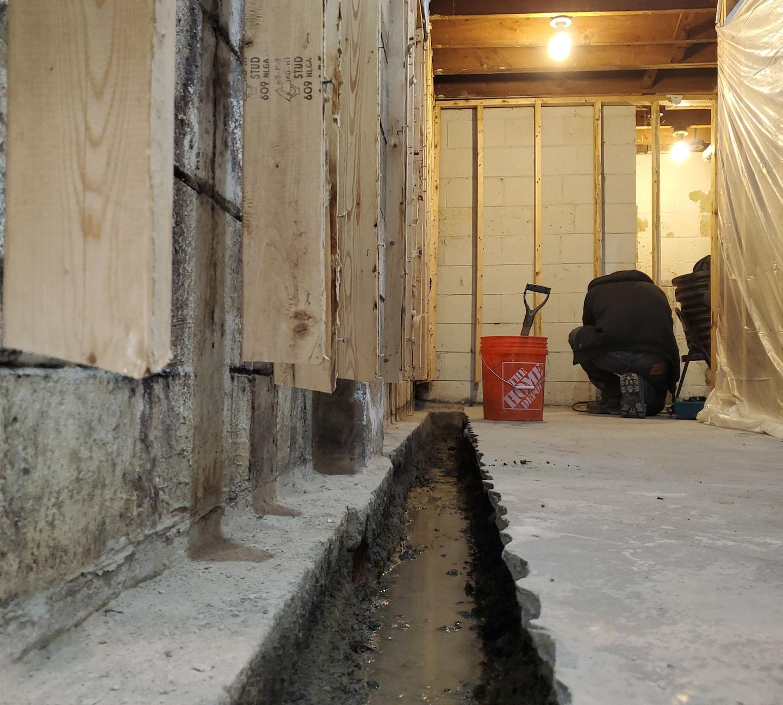 Royal Oak Waterproofing Project.