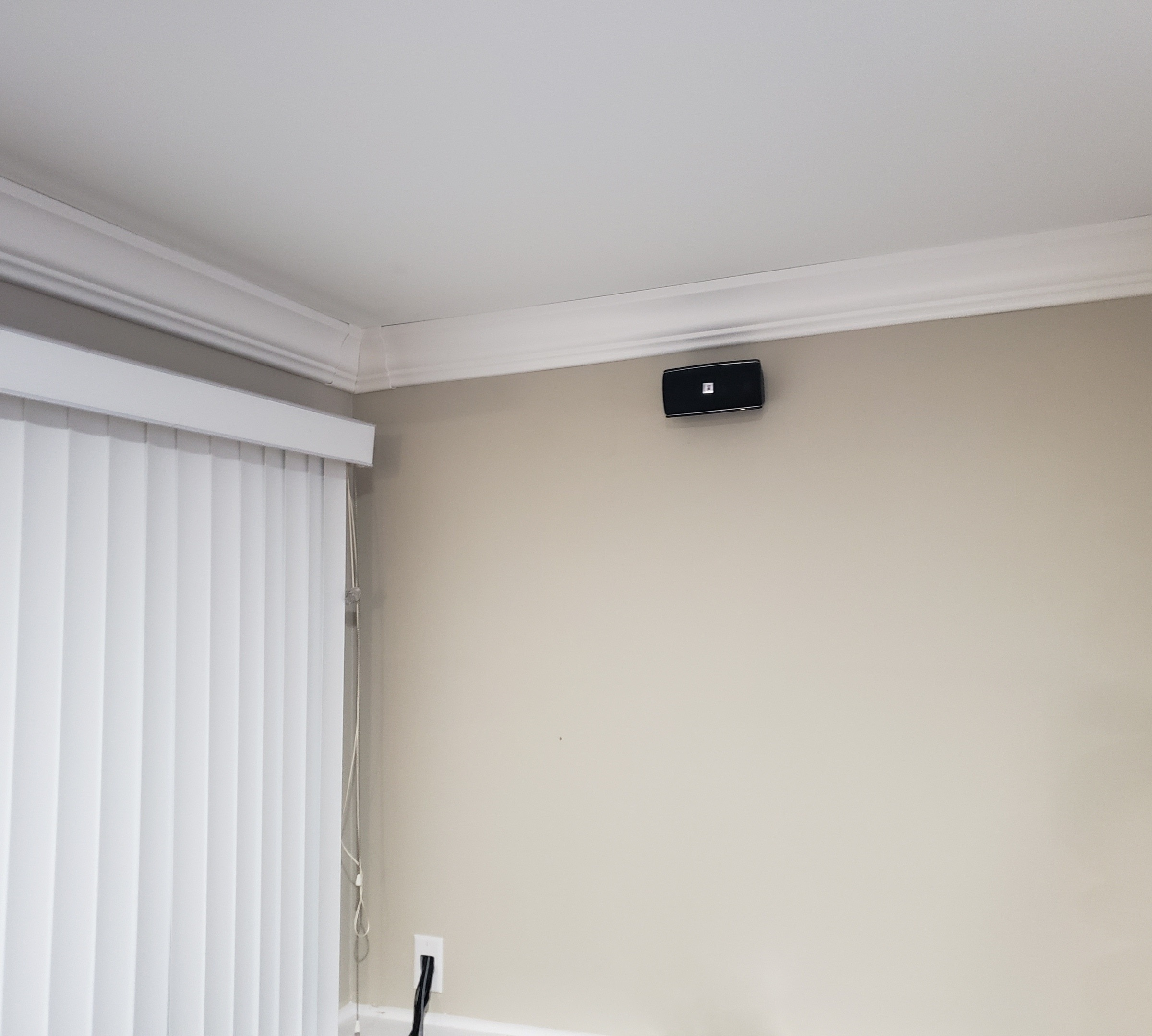 Home theater setup and wire concealment