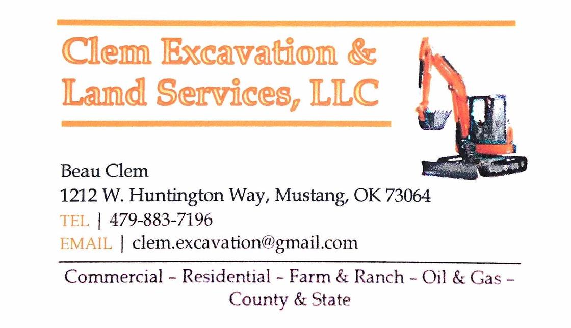 Clem Excavation & Land Service logo