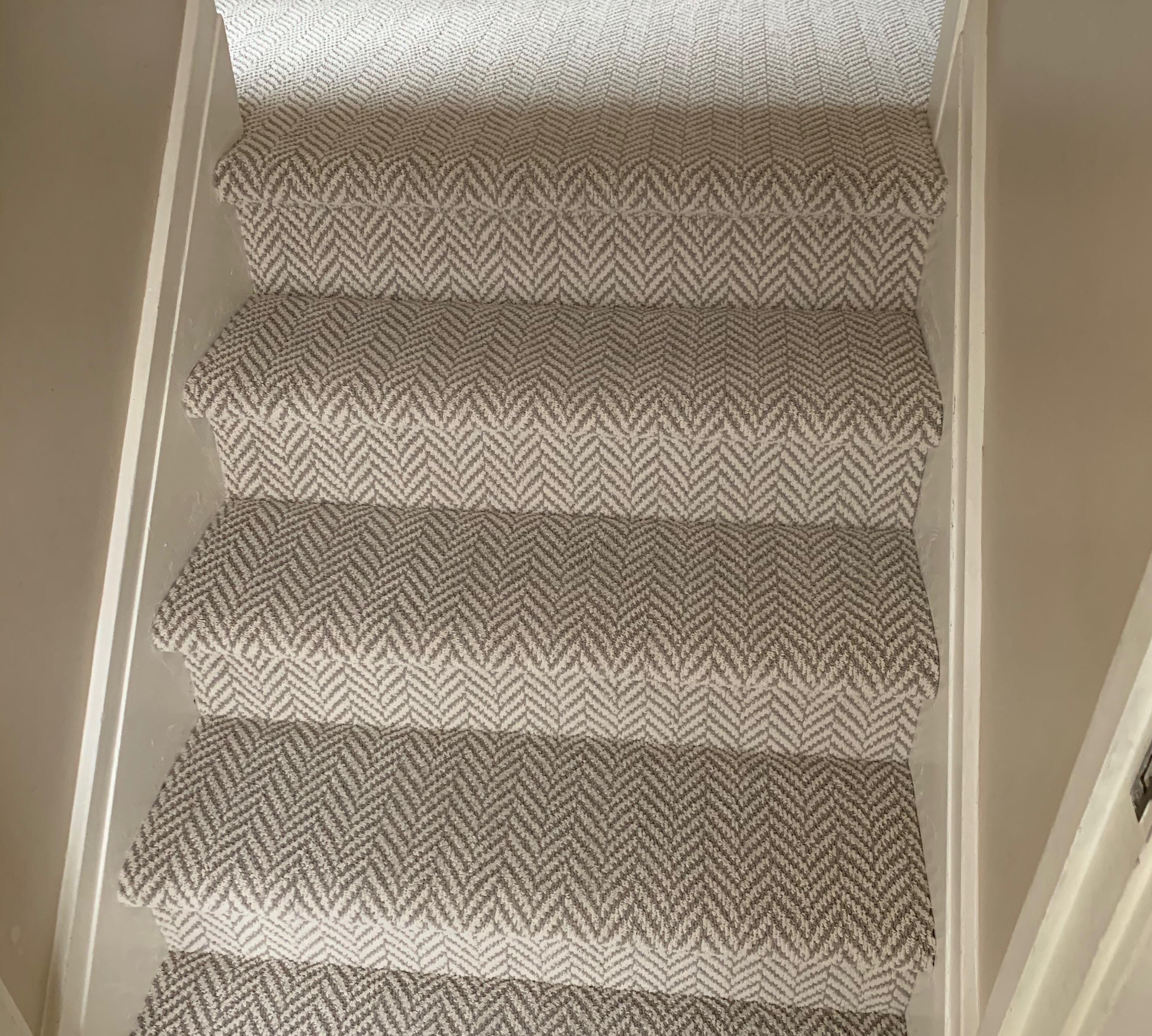 Carpet stairs and hallway