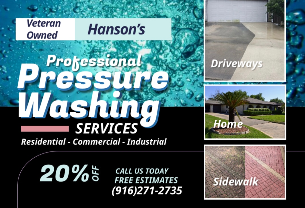 Hanson professional power washing  logo