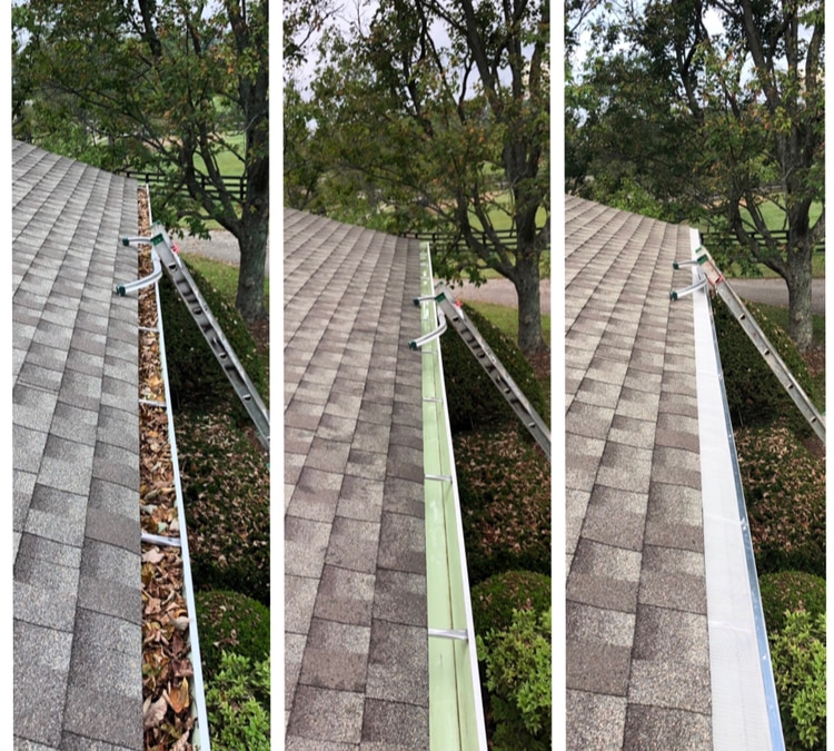 Gutter Cleaning and Gutter Guard Installation
