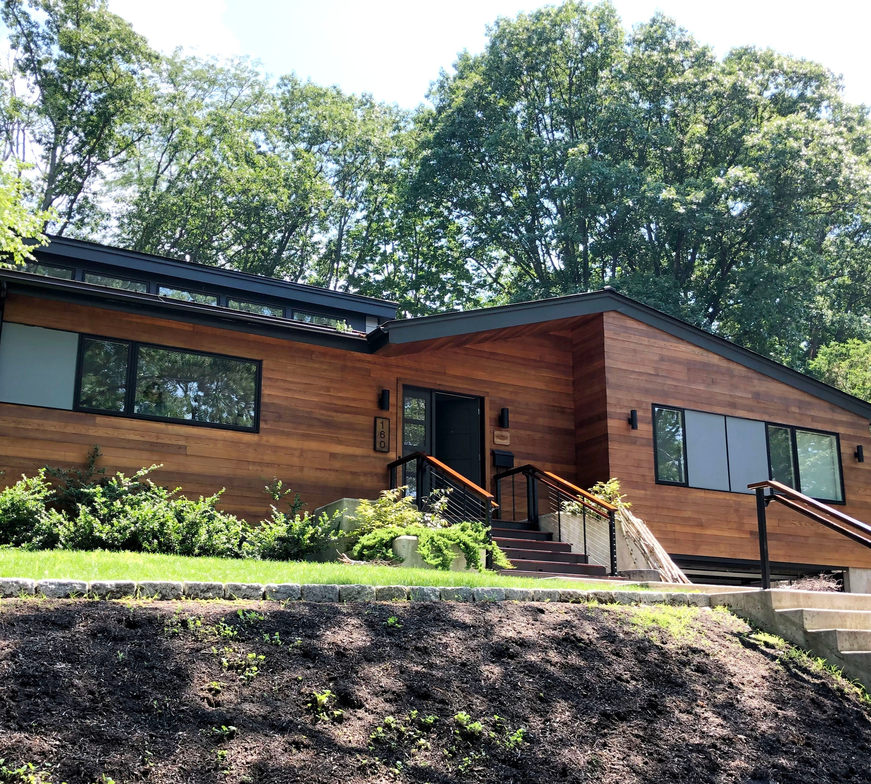 Natural Stained Home in Chestnut Hill, MA