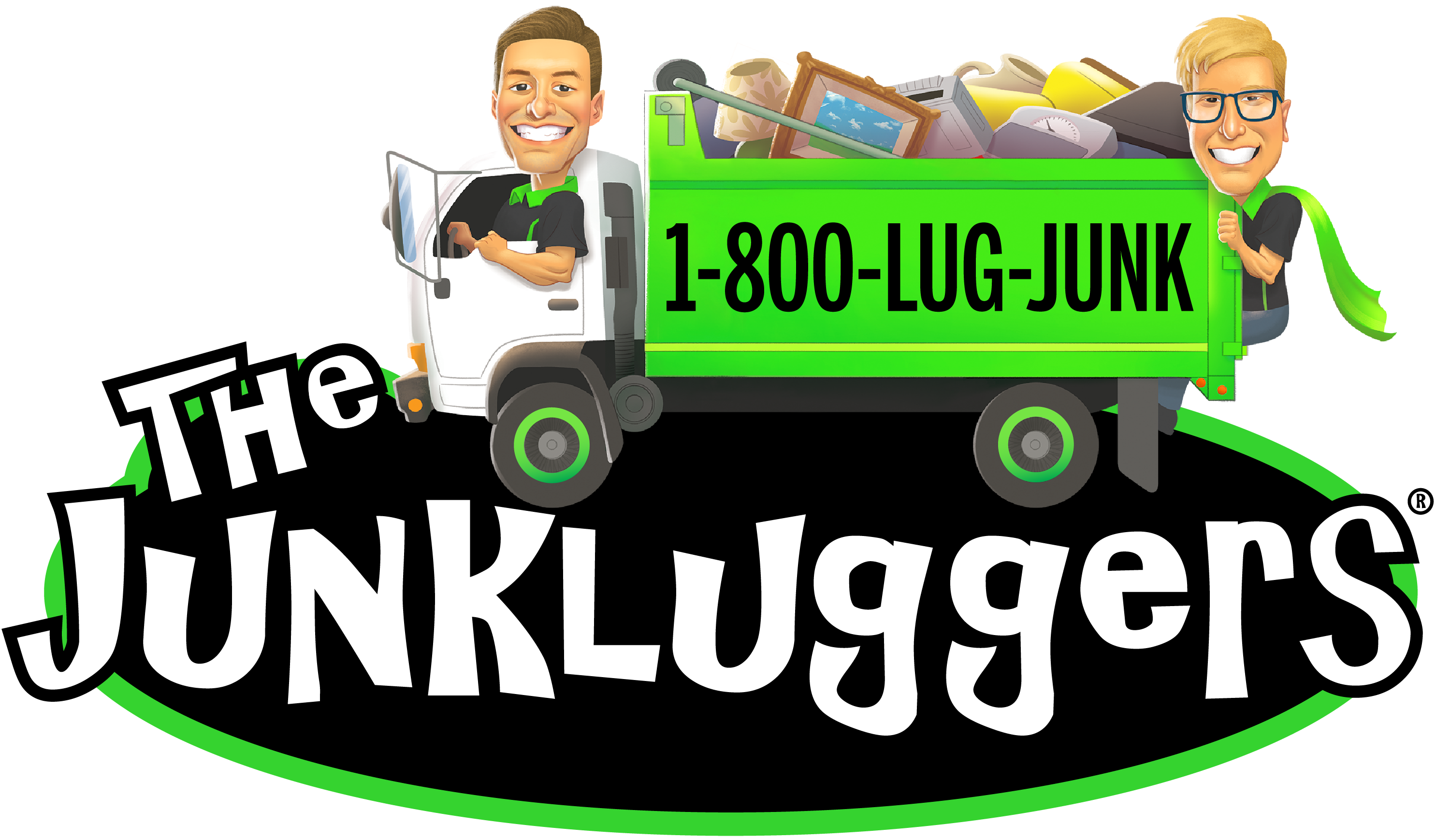 The Junkluggers Hauling & Recycling logo