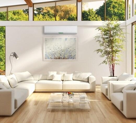 Mini Split AC Installation in Living Room